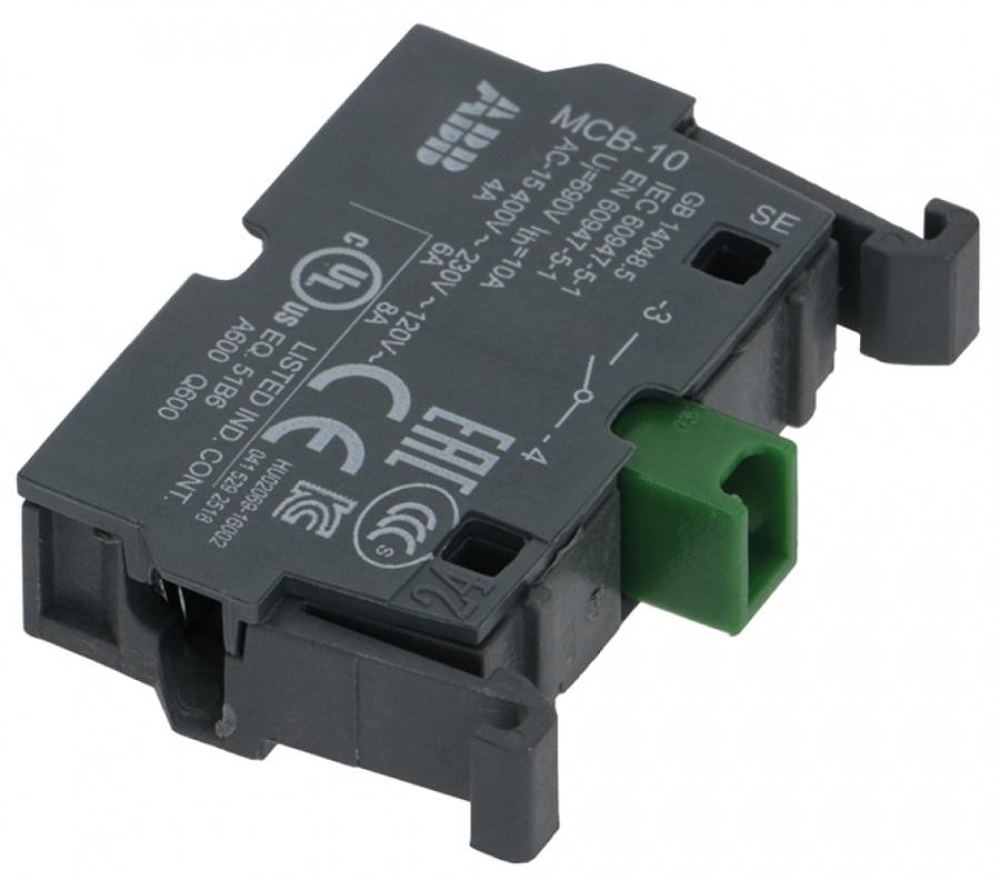 contact block ABB MCB-10 1NO max 400V 8A 34798 | horecatiger