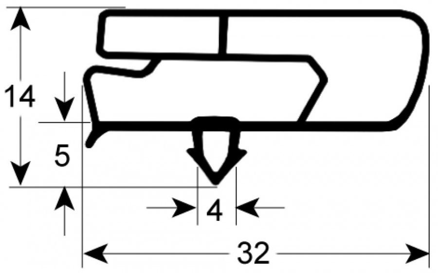 guarnizione per frigoriferi profilo 9797 90176 horecatiger. Black Bedroom Furniture Sets. Home Design Ideas